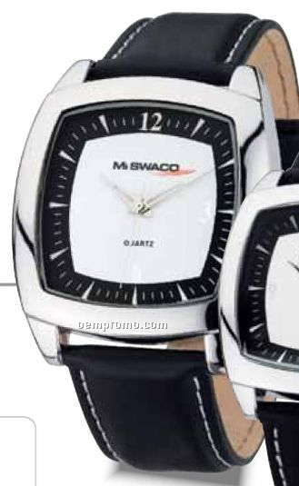Watch Creations Men's Black/ White Watch W/ Square Face