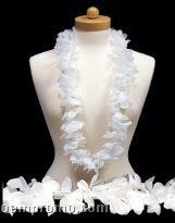 """White Flower Leis (3""""X42"""")"""