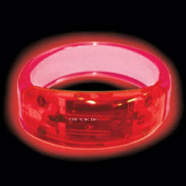 Red LED Bangle Light Up Bracelet