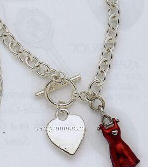Heart Disease Awareness Tiffany Style Bracelet