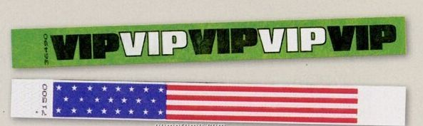 Novelty Strong Band Pre-printed Multi-color Vip Wristband