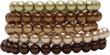 5 Piece Gold-tone Hematite Glass Pearl Bracelet Set