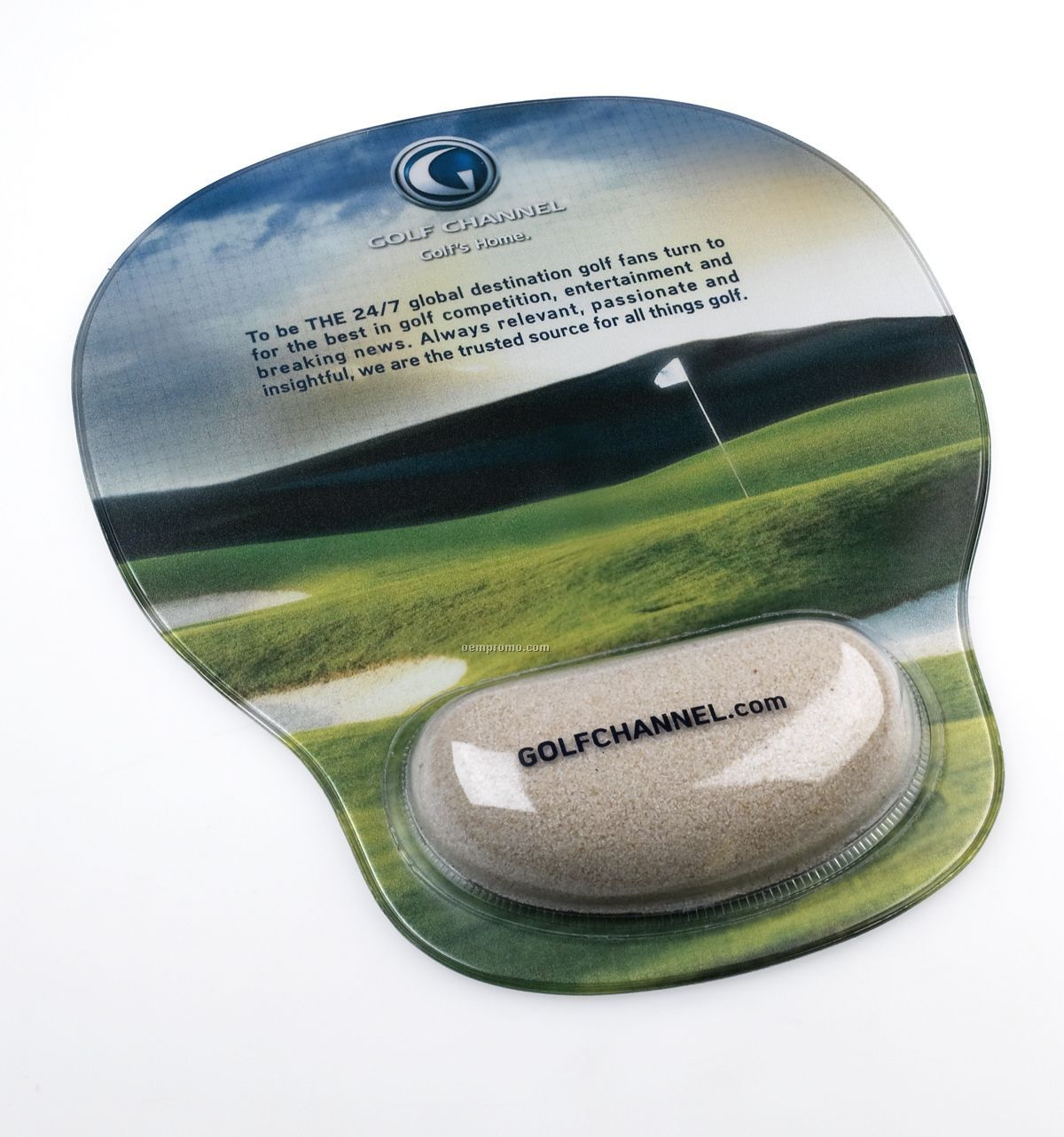 Combo-padz Mousepad With Bunker Sand Filled Wrist Rest