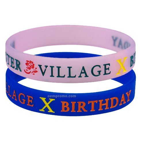 Debossed Silicone Bracelet With Colorfill