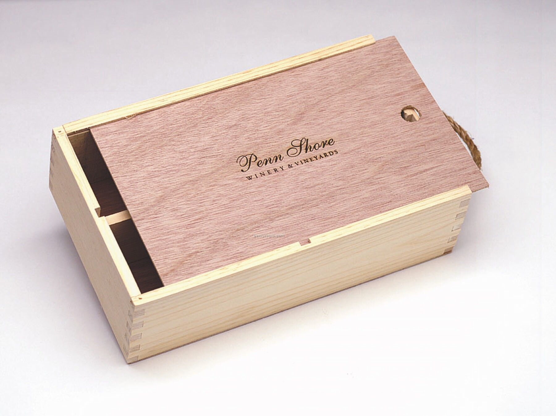 "Medium Slider Box W/ Wood Lid (8 4/2""X13 7/8""X4"")"