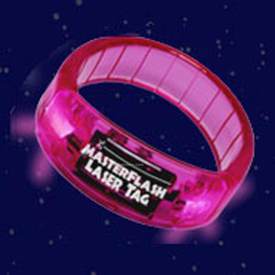 Pink Light Up Bracelet With White LED