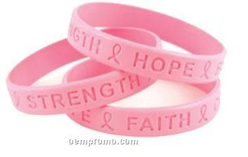 Breast Cancer Awareness Debossed Sili Band