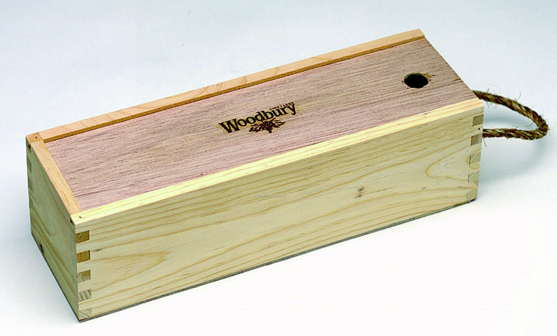 Small Slider Box With Wood Lid (4 3/8