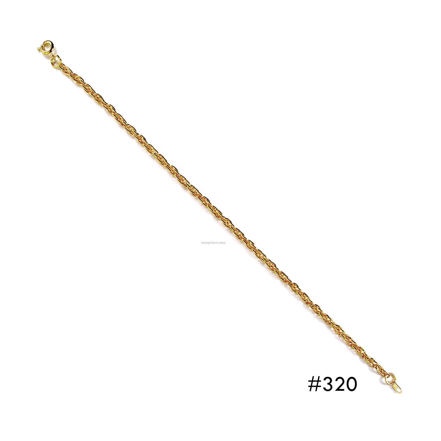 Gold Charm Bracelet - Small Link