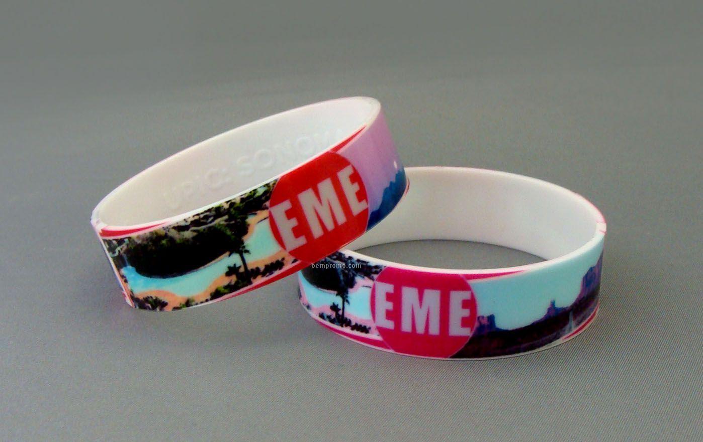 Offset Printed Silicone Bracelet