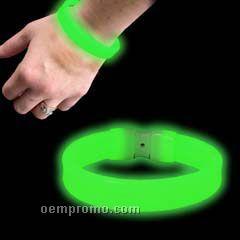 """Triple Wide Green Glow Bracelet (8"""")"""