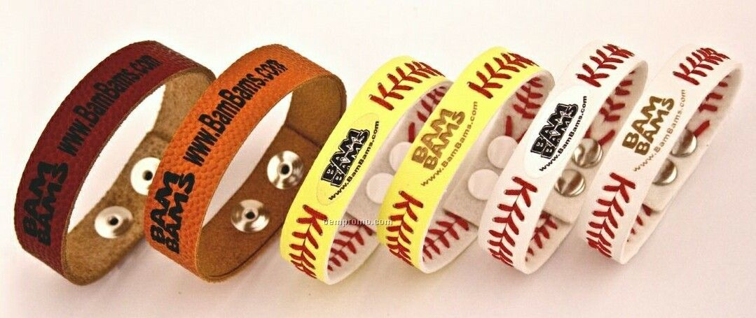 Adult & Youth Football Bracelets - Laser Black W/ Continuous Seam