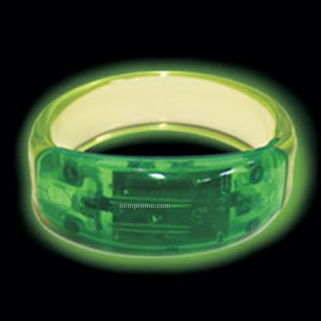 Green LED Bangle Light Up Bracelet