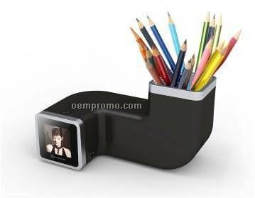 "1.5""Digital photo frame with pen holder"
