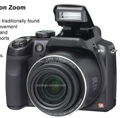 12 Mp Ccd Digital Camera W/ 24x Optical Triple Shake Reduction Zoom