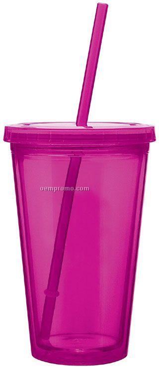 16 Oz. Fuchsia Spirit Tumbler Cup