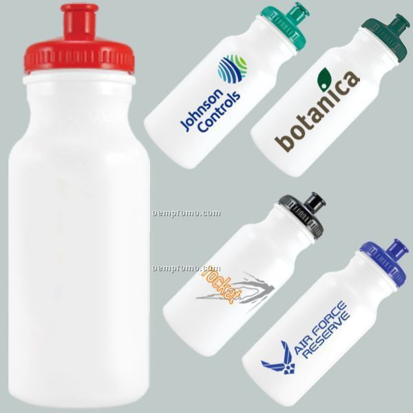 20 Oz. Evolvetm Biodegradable Water Bottle With Push/Pull Lid