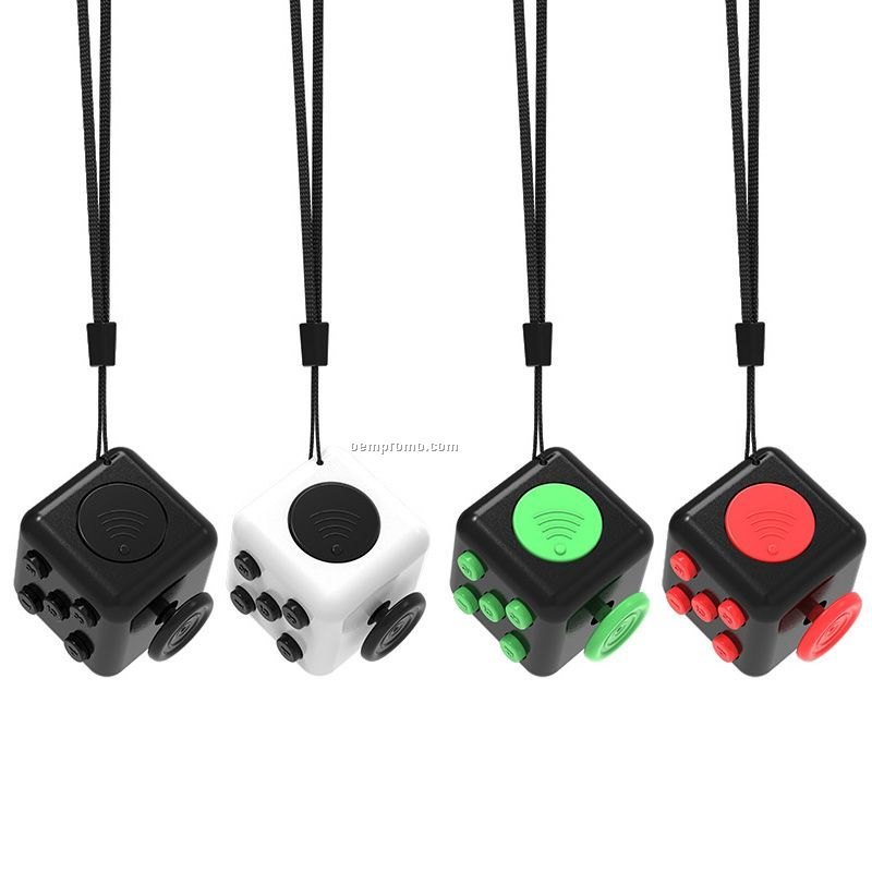 3.3cm Bigger Fidget Toy Cube with Lanyard for Kids and Adult