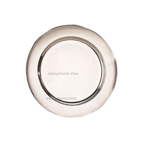 4 Piece Stainless Steel Mirror Finish Charger Plate Set