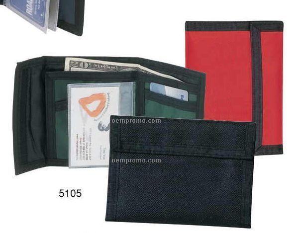 420 Nylon Bi-fold Wallet W/ Credit Card Holder