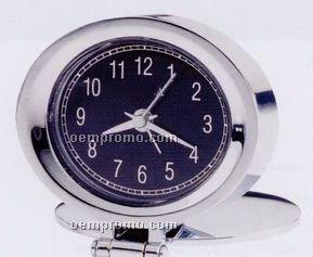 Adamo Chrome Finish Clock W/ Travel Alarm