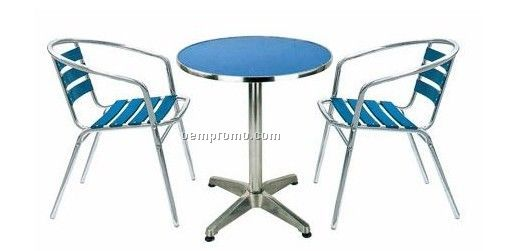 Aluminum frame table and chair set,Aluminum furniture set