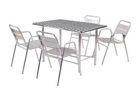 Aluminum table and chair set