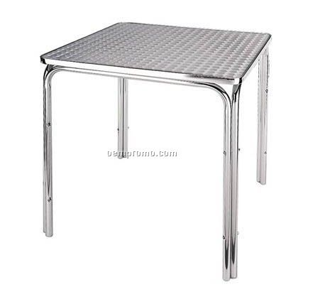 Aluminum table with squre desktop