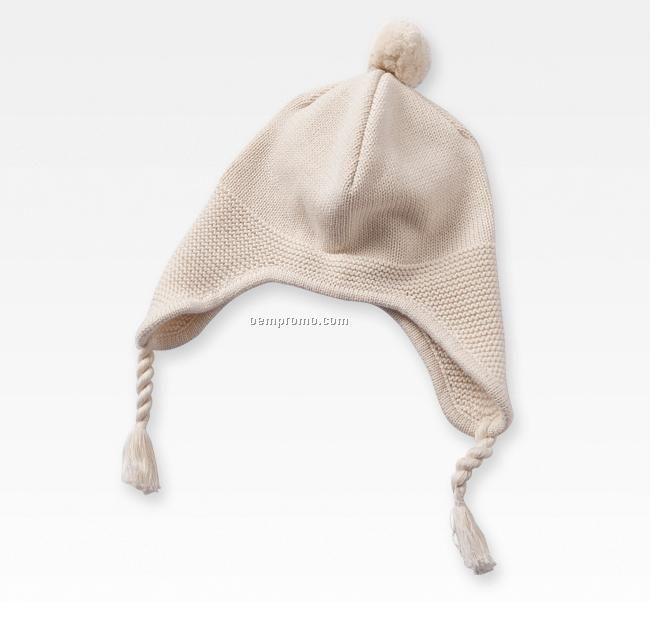 Baby earflap knitting hat