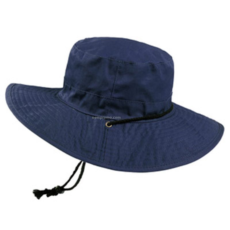 Basic packable big brim hat