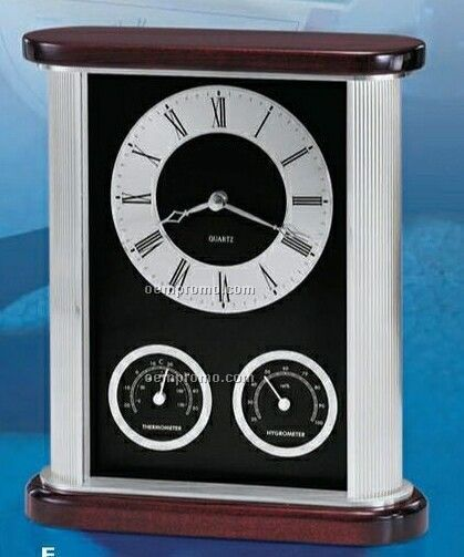 Belvedere Silver W/Thermometer And Hygrometer