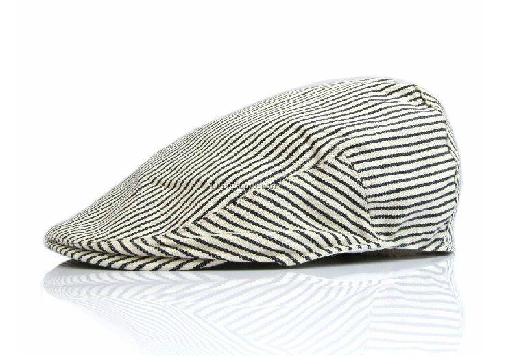 Black/white stripped beret
