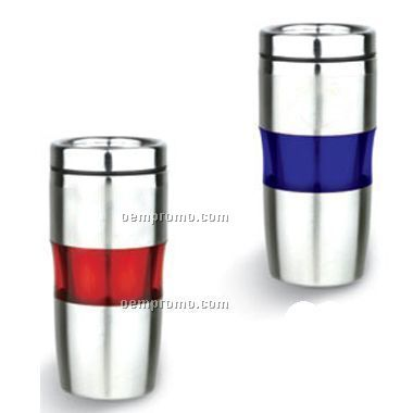 Blue / Red Tumbler With Stainless Steel Inside(Screen Printed)