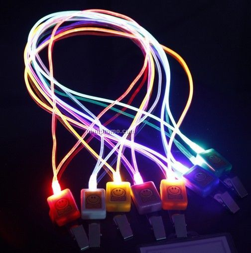 Bottle Cap Light Up Pendant Necklace W/ Blue LED