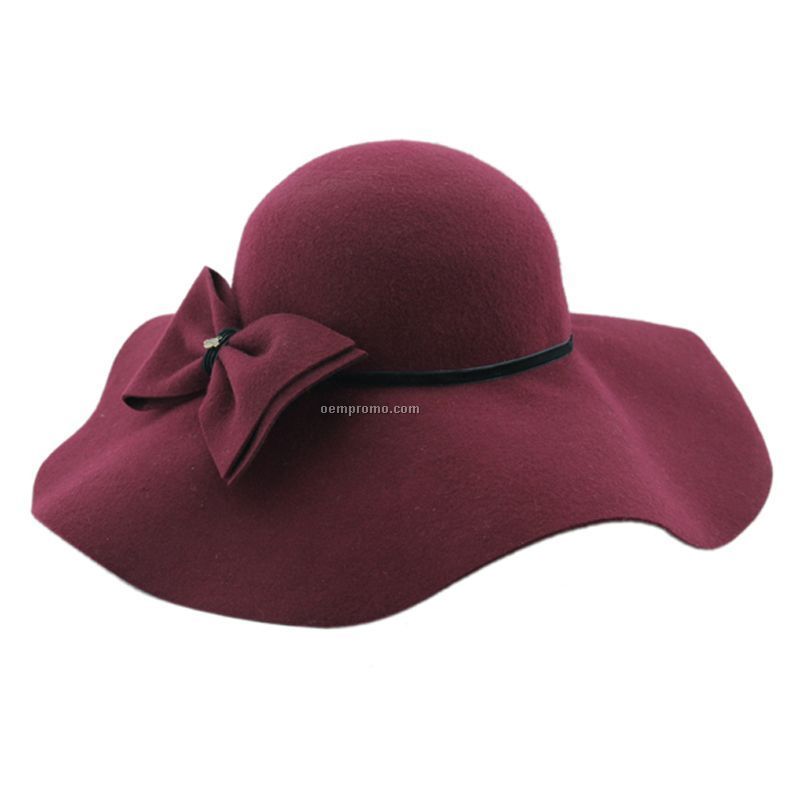 Burdendy brim hat with bow
