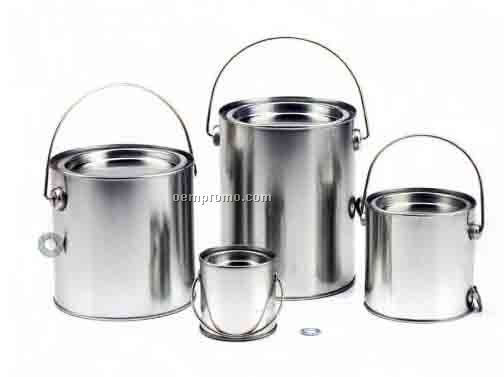CUSTOM ROUND BUCKET TIN WITH HANDLE