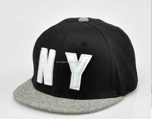 Classic black snapback with special peak