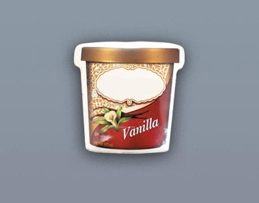 Compressed 100% Cotton T-shirt Ice-cream-pint Stock Shape (S-xl)