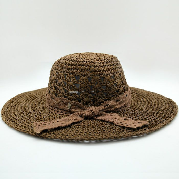 Crushable straw hat