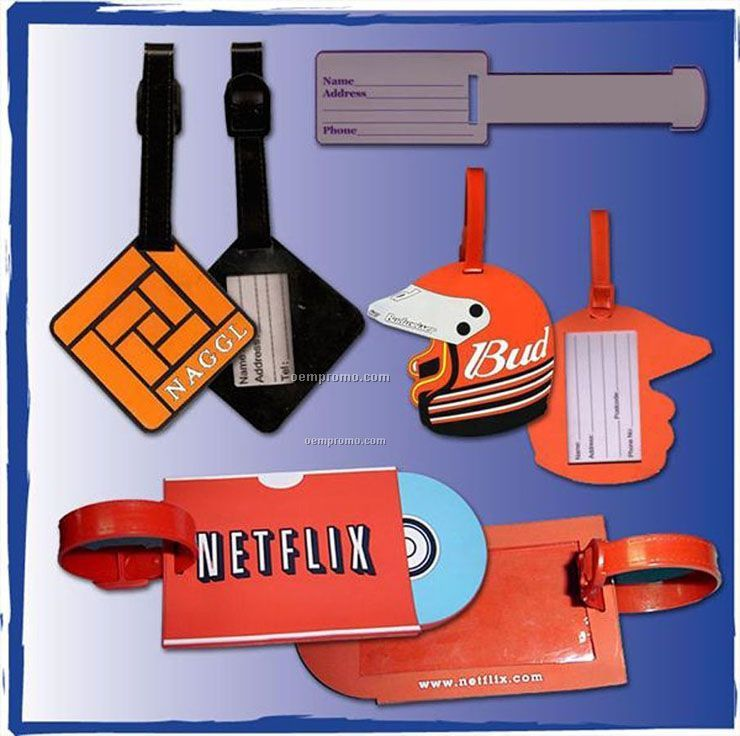 Custom Flexible Pvc Rubber Luggage Tags (4.25