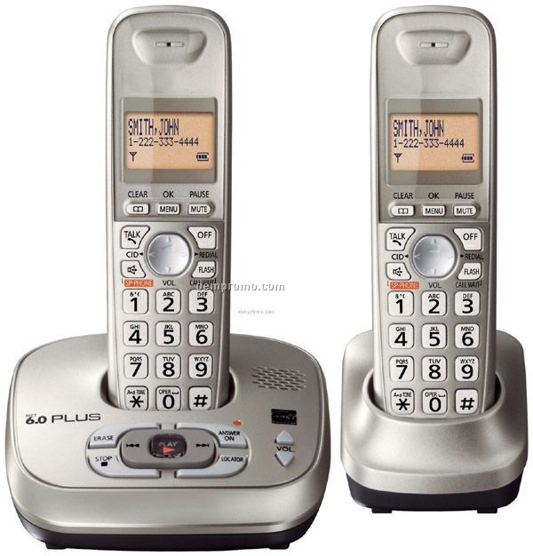 Dect 6.0 Plus Expandable Digital Cordless Phone W/Answering Syste