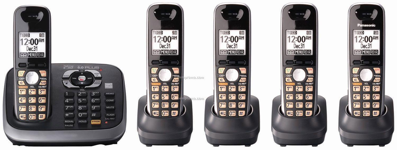 Dect 6.0 Plus Expandable Dual Keypad Phone System, 5 Handsets