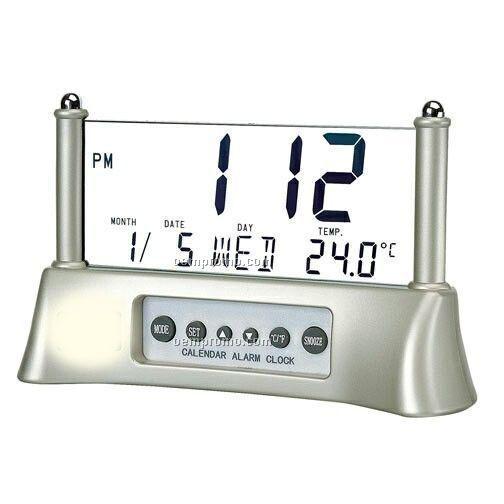 Desktop Or Bedside Lcd Readout Alarm Clock