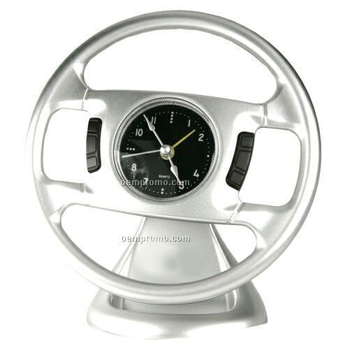 Desktop Steering Wheel Shape Alarm Clock