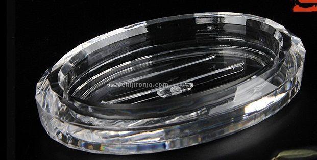 European Style Oval Acrylic Soap Dish