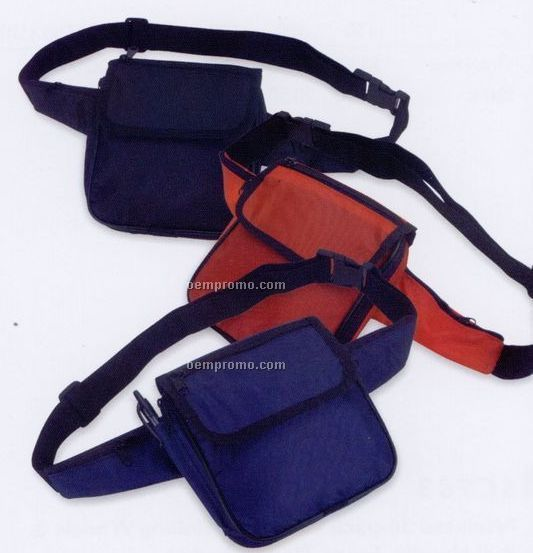 Fanny Pack With 5 Zipper Pockets & Adjustable Belt & Snap Buckle