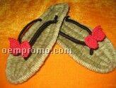Flax Straw Slippers
