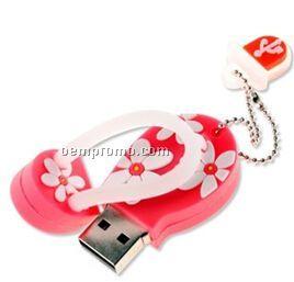 Flip-flop Sandals U Disk Keychain