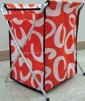 Foldable picnic basket, folding shopping basket, folding basket