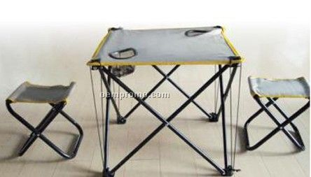Folding chair and table set